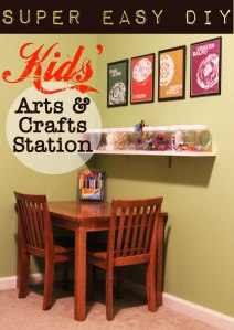 Super Easy Kids Arts and Crafts Station